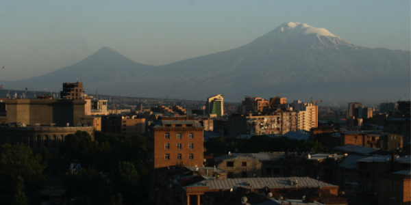 Mount Ararat seen from Yerevan. Mount Ararat is the assumed place where Noah's Ark landed | Photo by: Letizia Gambini