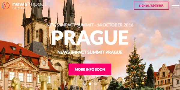 The News Impact Summit series is coming to Prague on October 14, 2016.