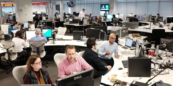 AAP's central newsroom in Sydney, fully powered by Superdesk | Photo: AAP