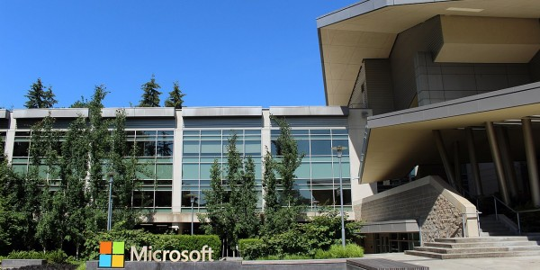 Microsoft HQ. Microsoft joined the Linux foundation in 2016