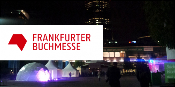 Nighttime view outside of the Frankfurt Book Fair | Photo Julian Sorge