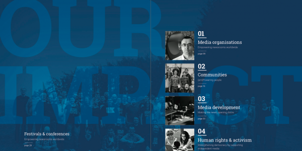 The stories of our users is at the centre of our Annual Report 2015