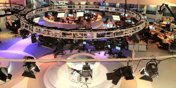 Al Jazeera's newsroom in Qatar. (Photo credit: Wikipedia)