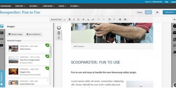 With Scoopwriter you can focus on what you do best: writing the stories!