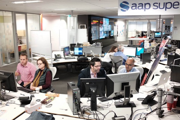 The Australian Associated Press central newsroom